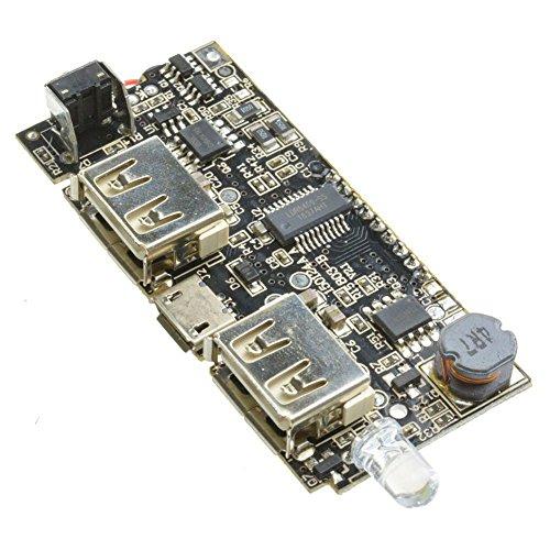 Basage Dual USB 5V 1A 2.1A Mobile Power Bank 18650 Caricabatterie PCB modulo di alimentazione LED LCD pannello solare scheda di ricarica per il telefono fai da te