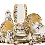 ZYING ZORE Conjunto de vajillas, Conjunto de vajillas, Hueso, Porcelana, Corea, cerámica, vajilla de Esmalte nórdico Set de vajilla de Hueso China Bowl