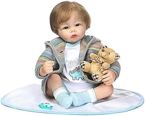 Haixng Baby Doll Handgemachte Weiße Silikon Vinyl 22 Zoll 55cm magnetische Schnuller Niedlichen lebensechte Baby Puppe Junge mädchen Spielzeug