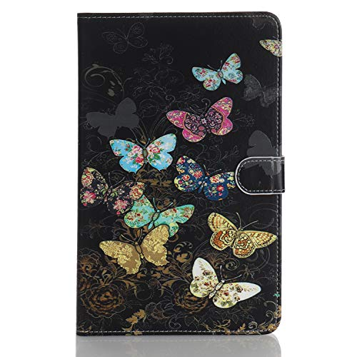 Case for Tablet iPad Mini, Flip Cover Leather Wallet with Card Holder for iPad Mini 1 2 3 4 5 - Colorful Butterfly