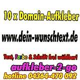 20cm, 10 Stück Domainaufkleber, Text & Farbe frei wählbar, www.dein-wunschtext.de