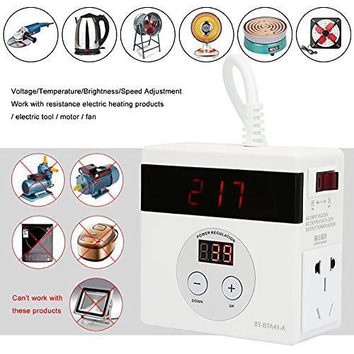 Termostato de atenuación, regulador de Voltaje SCR, Ventiladores de 4000 W Ajustables continuos de 0~220 V para Productos de calefacción eléctrica de Resistencia