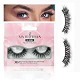VIVID STELLA 3D Faux Mink Lashes Sets Natural Fake Eyelashes Long Eye LashesDramatic Strip False Eyelash Reusable Makeup Gift for Women Girls
