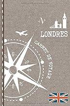 Londres Carnet de Voyage: Cahier de Voyageurs Dot Grid Pointillé A5 - Dotted Journal de bord pour Ecrir. Livre pour l'écri...
