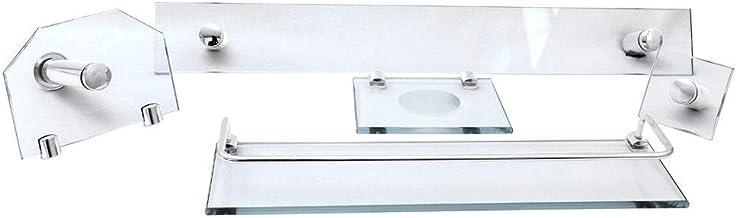 Kit Banheiro e Acessórios Em Vidro 8 Mm - Incolor Reto