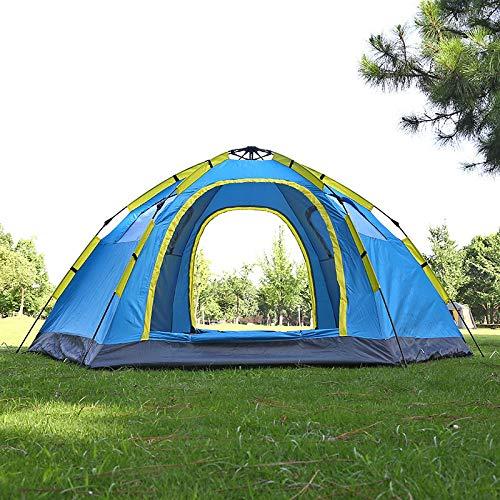 AOGUHN tent - Outdoor Quick Open automatische tent voor 5-8 personen dubbele deur ademende zomertent voor strandvakantie Rust 305x240x145cm