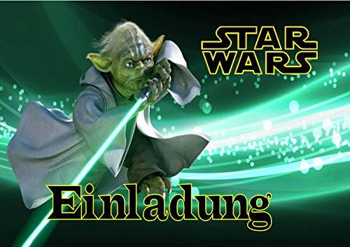 TV-24 Star Wars Einladungskarten 6er Set inkl. 6 Umschläge E4