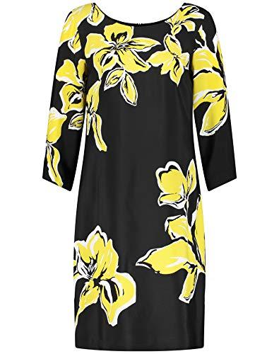 Gerry Weber Damen Kleid Mit Opulenten Blüten Figurumspielend Schwarz/Gelb Druck 42