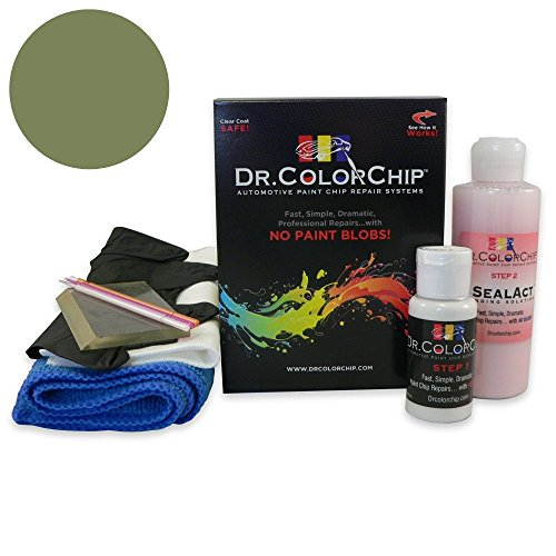 Dr. ColorChip Pontiac All Models Automobile Paint - Verdoro Green Metallic 73 (1969) - Squirt-n-Squeegee Kit