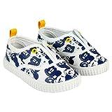 Zapatillas de Lona Niño Mickey Mouse Disney Sin Cordones, Blancos y Azules (Tallas 22 a 27) (25 EU)
