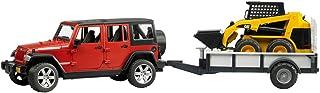 Jeep Wrangler - Unlimited Rubicon, vehículo con miniexcavadora (Bruder 2925)