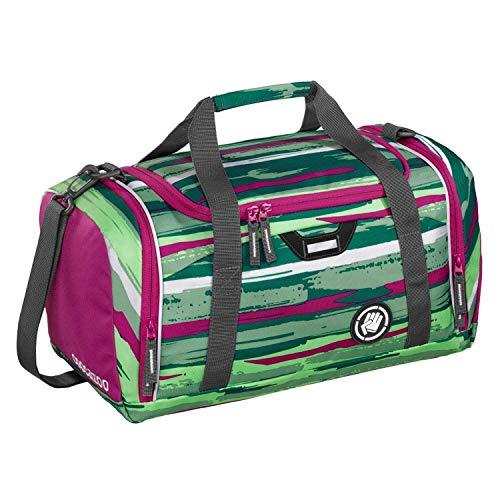 """Coocazoo Sporttasche SporterPorter """"Bartik"""", grün/pink, Nasswäschefach, Seitentasche, Schuhfach, Abnehmbarer, Verstellbarer Schultergurt, für Mädchen ab der 5. Klasse, 20 Liter"""