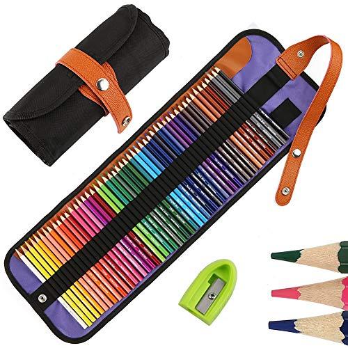 50 Buntstifte Set, Nakeey Zeichnen Bleistifte Art Set für Professionelle Farbmischung Malen und Skizzen, Malbücher für Erwachsene Schüler Kinder