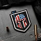 Bounty Hunter US Flag 100% Embroidered Morale Patch - Hook Backed by NEO Tactical