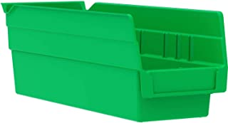 "$64 » One Stop Shop Stacking Storage Drawer Organizer Rack - Plastic Stacking, Nestable, Hanging Parts Bin, 4-1/8""W x 11-5/8""D x 4"" H, Green, 24 Pack"