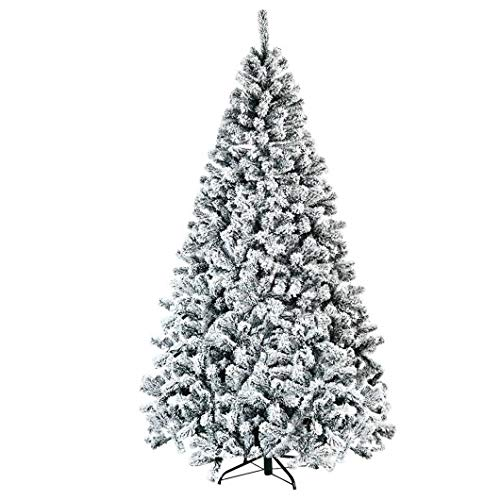 Productworld258 7.5 Ft Snow Flocked Hinged Artificial Christmas Tree