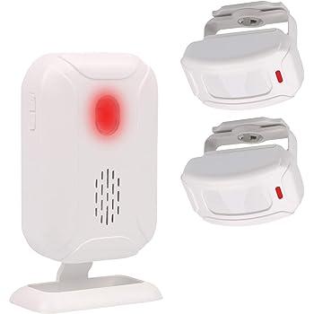 Mengshen Alarma del Sensor De Movimiento, Timbre Inalámbrico para Puerta/Entrada de La Puerta/Casa y Tienda/Buzón, Kit de Sistema de Alarma de Seguridad con 2 Sensor Y 1 Receptor - YBQ042: Amazon.es: Bricolaje