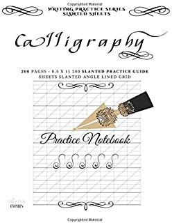 Calligraphy Practice Notebook: 200 cream 80gsm Pages 8.5x11 Calligraphy Grid Practice Sheets: Volume 2 (Writing Series)