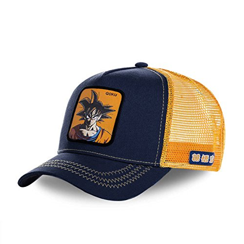 Collabs Gorra Dragon Ball Z Goku Trucker Azul OSFA (Talla única para Todos sexos)
