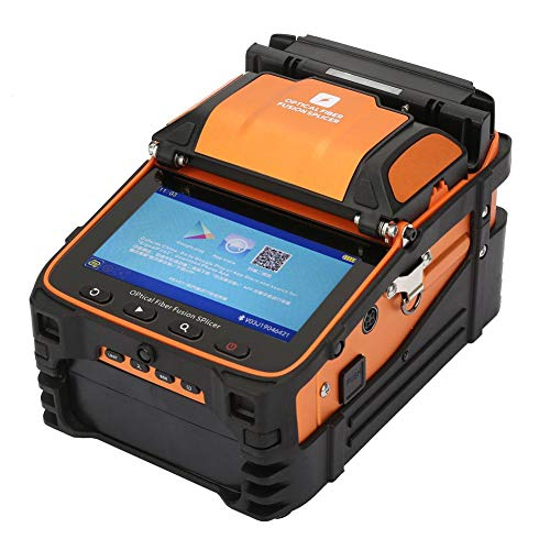 Máquina de empalme de soldadura de fibra óptica inteligente automática AI-9, máquina de empalme de empalme de fusión de fibra óptica, pantalla LCD HD de 5 pulgadas(EU-plug)