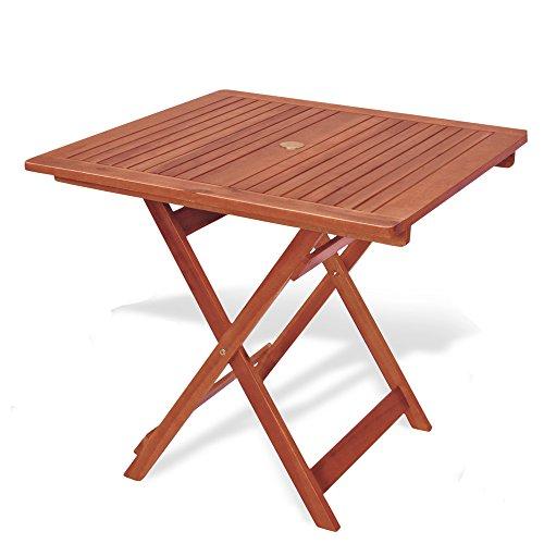 Tavolo Quadrato Pieghevole 80x80x72 Tavolo da Giardino MOD.Caprifoglio in Legno keruing a Lavorazione Artigianale,Tavolo di Legno Duro Uso Esterno,Tavolo in keruing, Tavolo Pieghevole da Giardino.