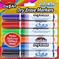 Cra-Z-Art Kids Washable Broadline Dry Erase Markers, 6 Count