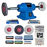 Silverline 6' 150W Bench Grinder Polisher with Pro-Max 4' Metal...
