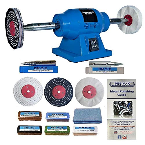 Silverline 6' 150W Bench Grinder Polisher with Pro-Max 4'...