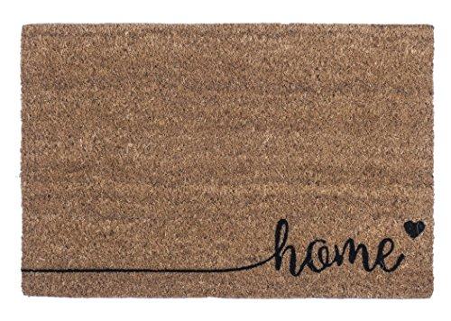 Entryways Just for Your Home Zerbino antiscivolo in fibra di cocco, marrone, 60 x 1,4 x 40 cm