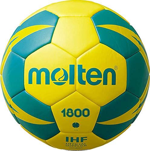 Balon de Balonmano Molten H2X1800-YG - Entrenamiento, Color Amarillo y Verde