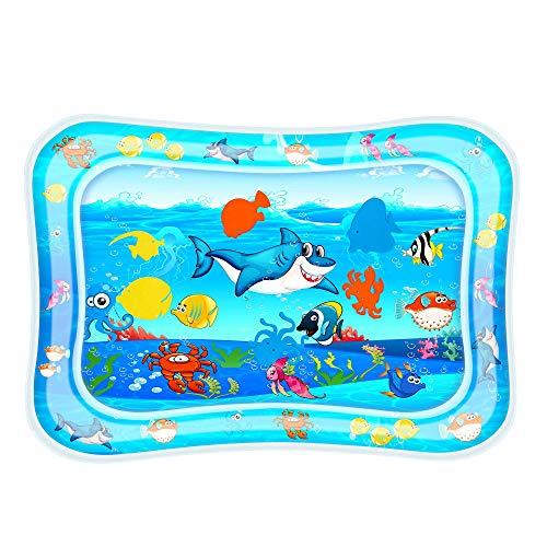 Wassermatte Baby sensorisches Spielzeug für 0 3 6 9 Monate aufblasbare Bauch-Zeit Wasser-Spielmatte für Säuglinge & Kleinkinder Dusche Geschenke