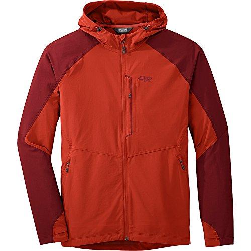 Outdoor Research Men's Ferrosi Hooded Jacket, Coyote/Fatigue, Medium