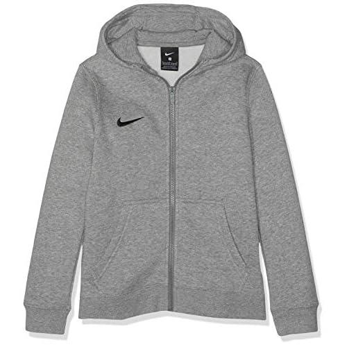 Nike Club19 Full-Zip, Felpa con Cappuccio Unisex Bambini, Dk Heather/Dark Steel Grey/Black, M