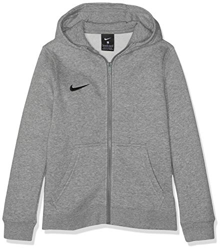 Nike Kinder Y Hoodie Fz Flc Tm Club19 Kapuzenjacke , Grau (dk grey heather/dark steel grey/black/(black) , L