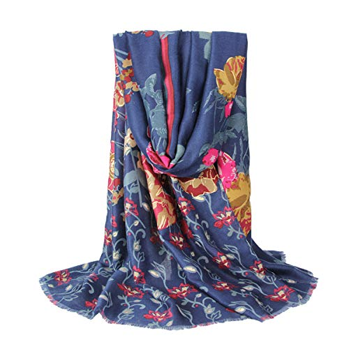Xiuy Selvaggio Nappe Fazzoletto da Collo Colore Modello Sciarpa Moda Leggero Foulard Morbido Caldo Scialle Elegante Donna Scarf Cotone Grande Stole