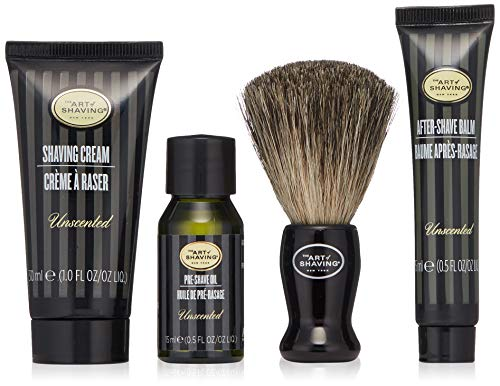 The Art of Shaving - Starter Kit With Bag Unscented, Starterset parfümfrei