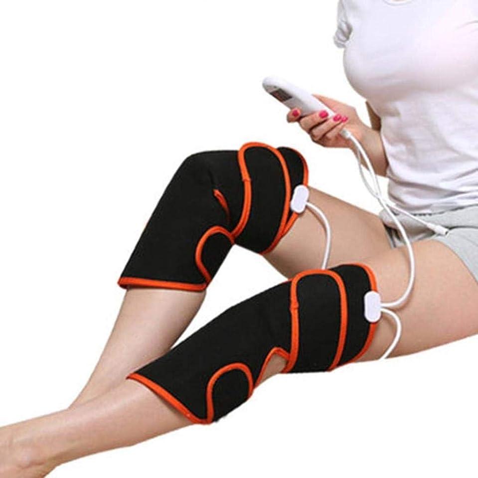 暖房付き膝マッサージャー、電動バイブレーションマッサージャー、膝マッサージャーを定期的に加熱できます、筋肉の痛みを緩和するモード、9モード、冷たい脚、骨過形成患者、術後リハビリ