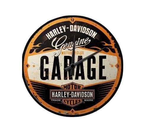 Harley-Davidson - Orologio da parete in stile garage