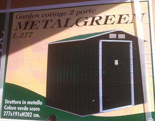 casa in metallo 2 porte verde scuro 277x191x202