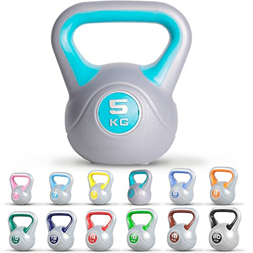 GORILLA SPORTS® Kettlebell Stylish 2-20 kg Kunststoff – Fitness-Kugelhantel 10 kg