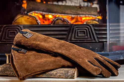 HANSA Personalisierte Grill-Lederhandschuhe, hitzebeständig, 1 Paar Handschuhe für Extreme Hitze, echtes Leder, Grillhandschuhe, Grillhandschuhe, Grillhandschuhe, Handschuhe, Kamin-Handschuhe