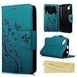 Mavis's Diary Coque Wiko Sunset 2 Étui Housse de Protection Étui à Rabat en Cuir Portefeuille Flip Phone Case Cover...