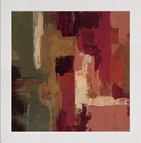 Frame Company Watson Bilderrahmen Silvia Vassileva Raspberry Fields I, 25,4 x 25,4 cm, Schwarz, Holz, weiß, 20 x 20 Inches