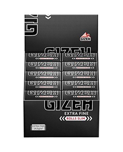 Gizeh Extra Fine Slim Rolls, 5 Meter, Karton mit 20 Stück