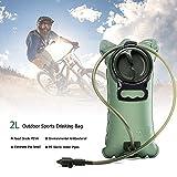 Poche à eau 2L avec système anti-fuite pour sport, vélo, camping, escalade,...