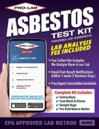 ProLab Asbestos Test Kit - Lab Fee Included! Emailed Results Within 1 Week Includes Return Mailer
