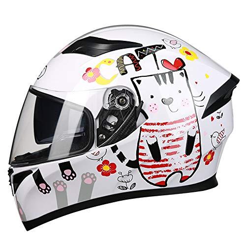 SJAPEX Casco Moto Integral para Motocicleta Bicicleta Scooter, Cascos de Moto Integrales para Mujer y Hombre, Full-Face Helmet Incluye Visera, Dot Homologado