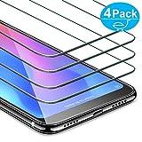 AROYI Protector Pantalla para Xiaomi Mi A2 Lite, [4-Pack] Dureza 9H Cristal Vidrio Templado Premium para Xiaomi Mi A2 Lite [Anti-Arañazos] [Anti-Huella] [Sin Burbujas]