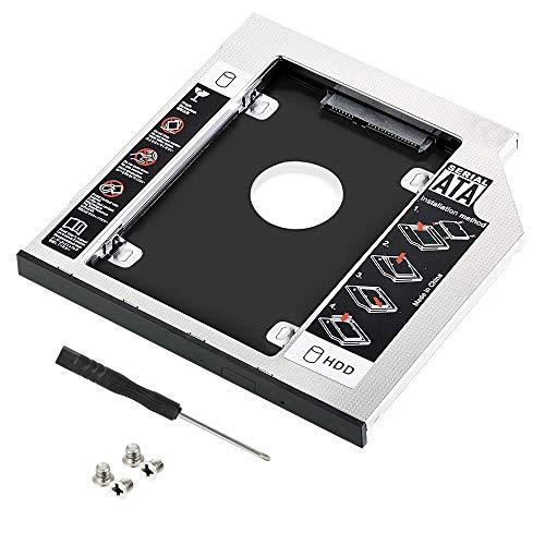 CODIRATO Laufwerksrahmen Festplattenrahmen für HDD/SSD, 9.5mm SATA, CD, DVD Laufwerkschacht, Festplatteschacht Kompatibel mit Universal Notebook