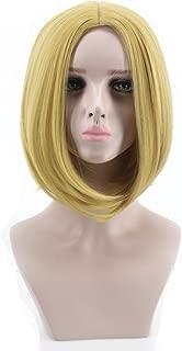 Women's Fashion Short Straight Golden Cosplay Wigs